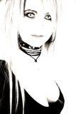Lentes de contacto de Goth imagen de archivo