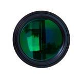 Lentes de la foto con reflexiones verdes Fotografía de archivo