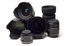 Lentes e acessórios de câmera. Foto de Stock