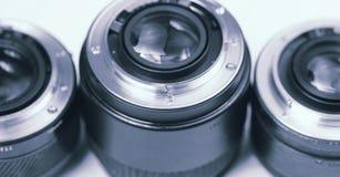 Lentes profissionais e macro da fotografia Imagens de Stock