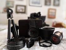 Lenti del collegamento per la macchina fotografica del telefono cellulare fotografia stock