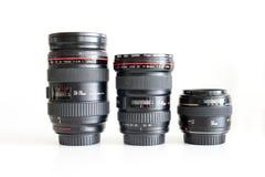 Lenti di Canon per dslr fotografie stock libere da diritti