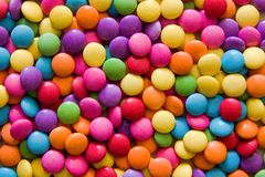 Lenticchie del cioccolato Fotografia Stock Libera da Diritti