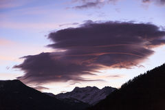 Lenticular cloud Stock Photos