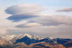 Lenticular Clouds Stock Photography