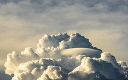 Lenticular clouds Stock Photo