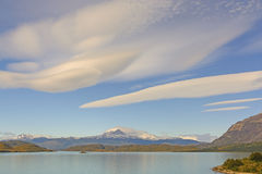 Lenticular Clouds over an Alpine Landscape Royalty Free Stock Photo