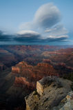 Lenticular clouds over Grand Canyon Stock Images