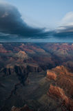 Lenticular clouds over Grand Canyon Royalty Free Stock Photos
