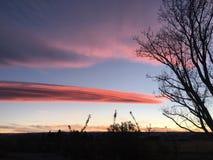 Lenticular en la puesta del sol Fotografía de archivo libre de regalías