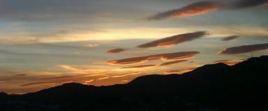 Lentikulare Wolken Stockfoto