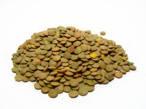 Lentil. Detail of lentils, food background, wholesome nourishment Royalty Free Stock Photos