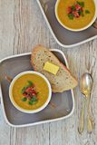 Lentil and Bacon Soup Royalty Free Stock Photos