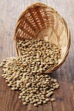 Lentil in a basket Royalty Free Stock Photo
