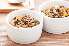 Lentil in bowl Royalty Free Stock Images