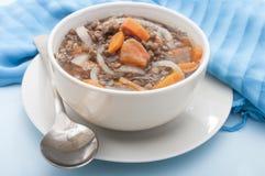 Lentil in bowl Stock Image