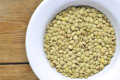 Lentil in bowl closeup Royalty Free Stock Photo