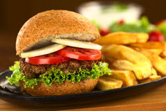 Lentil Burger Stock Images