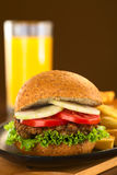 Lentil Burger Stock Photo