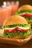 Lentil Burger Royalty Free Stock Photo
