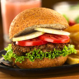 Lentil Burger Royalty Free Stock Photo