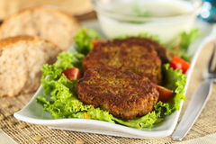 Lentil Burgers Stock Photography