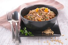 Lentil with carrot and onion Stock Photography