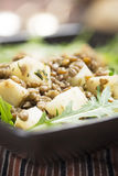 Lentil and Celeriac Salad Vertical Royalty Free Stock Photography