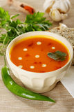 Lentil cream soup stock photography