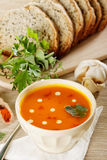 Lentil cream soup Royalty Free Stock Photo