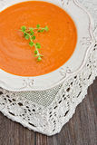 Lentil cream soup Royalty Free Stock Images