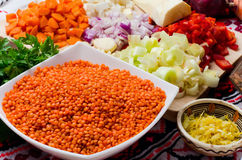 lentil-cream-soup-ingredients-carrots-parsley-root-red-peppers-onion ...