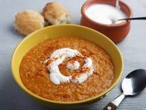 Lentil cream soup Royalty Free Stock Photo