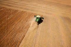 Lentil Harvest Aerial Stock Photo