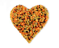 Lentil Heart Stock Photography