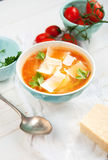 Lentil Minestrone Soup Royalty Free Stock Photography