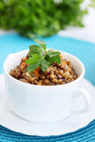 Lentil porridge with parsley Stock Images