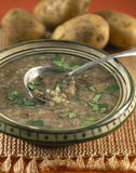 Lentil and potato soup Stock Images