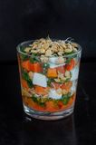 Lentil pumpkin salad with parsley and feta Stock Photography