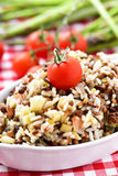Lentil and rice salad Stock Photo