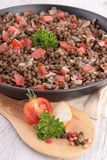 Lentil salad Royalty Free Stock Photography