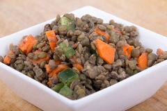 Lentil salad. Healthy green lentil salad in a bowl Stock Photography