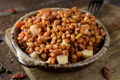 Lentil salad in a plate Royalty Free Stock Images