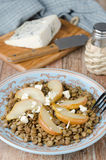 Lentil Salad With Caramelized Pears Closeup Royalty Free Stock Images