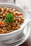 Lentil soup. In bowl closeup Royalty Free Stock Photo