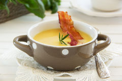 Lentil Soup And Pumpkin Stock Photos
