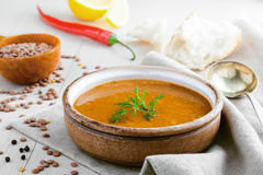 Lentil soup Stock Photo