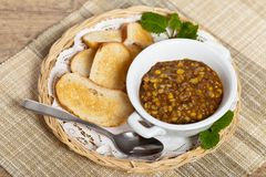 Lentil soup Royalty Free Stock Photos