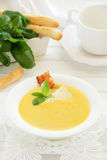 Lentil soup and pumpkin Royalty Free Stock Photography