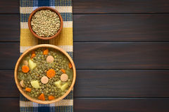 Lentil Soup with Sausage Stock Images